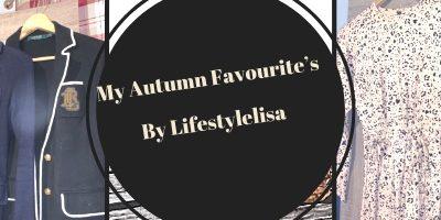 My Autumn Favourite's