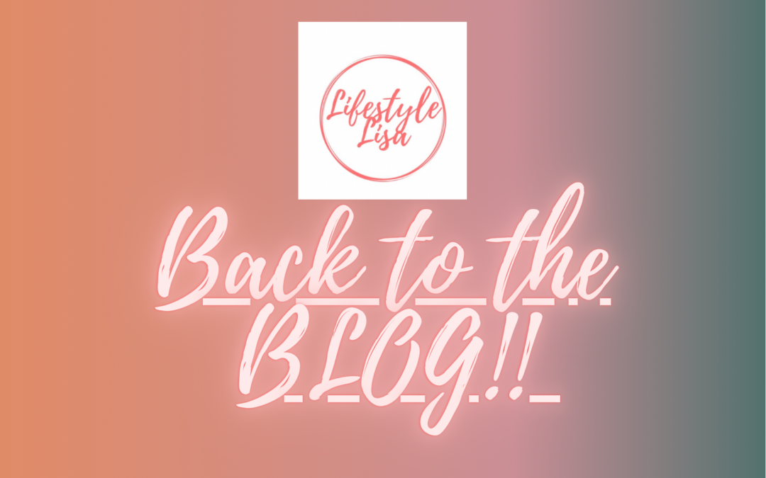 Back to the BLOG!